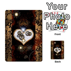 Steampunk, Awesome Heart With Clocks And Gears Multi-purpose Cards (Rectangle)