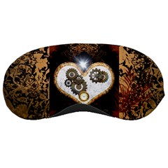 Steampunk, Awesome Heart With Clocks And Gears Sleeping Masks