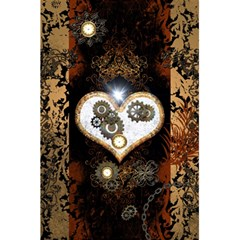 Steampunk, Awesome Heart With Clocks And Gears 5.5  x 8.5  Notebooks