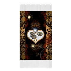 Steampunk, Awesome Heart With Clocks And Gears Shower Curtain 36  x 72  (Stall)