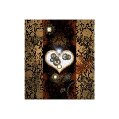 Steampunk, Awesome Heart With Clocks And Gears Shower Curtain 48  X 72  (small)