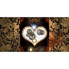Steampunk, Awesome Heart With Clocks And Gears YOU ARE INVITED 3D Greeting Card (8x4)