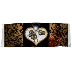 Steampunk, Awesome Heart With Clocks And Gears Body Pillow Cases (Dakimakura)
