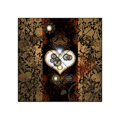 Steampunk, Awesome Heart With Clocks And Gears Acrylic Tangram Puzzle (4  x 4 )