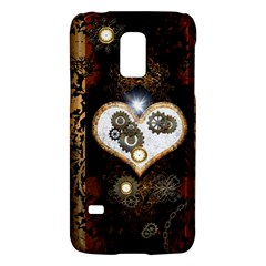 Steampunk, Awesome Heart With Clocks And Gears Galaxy S5 Mini