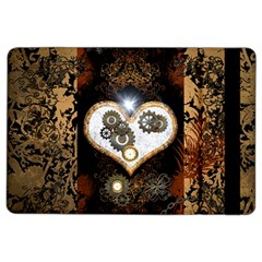 Steampunk, Awesome Heart With Clocks And Gears Ipad Air 2 Flip