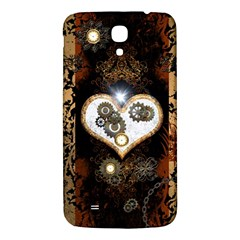 Steampunk, Awesome Heart With Clocks And Gears Samsung Galaxy Mega I9200 Hardshell Back Case