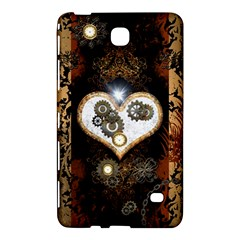 Steampunk, Awesome Heart With Clocks And Gears Samsung Galaxy Tab 4 (7 ) Hardshell Case
