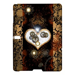 Steampunk, Awesome Heart With Clocks And Gears Samsung Galaxy Tab S (10 5 ) Hardshell Case