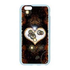 Steampunk, Awesome Heart With Clocks And Gears Apple Seamless iPhone 6 Case (Color)
