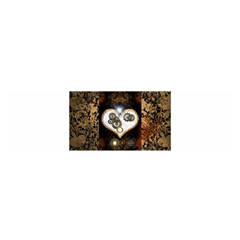 Steampunk, Awesome Heart With Clocks And Gears Satin Scarf (Oblong)