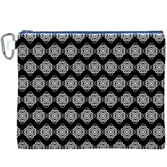 Abstract Knot Geometric Tile Pattern Canvas Cosmetic Bag (xxxl)