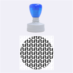 Colorful Floral Pattern Rubber Round Stamps (Medium)