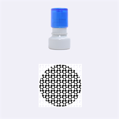 Colorful Floral Pattern Rubber Round Stamps (Small)