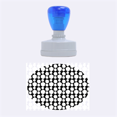 Colorful Floral Pattern Rubber Oval Stamps