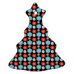 Colorful Floral Pattern Ornament (christmas Tree)