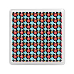 Colorful Floral Pattern Memory Card Reader (square)