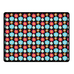 Colorful Floral Pattern Double Sided Fleece Blanket (Small)