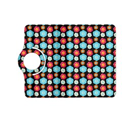 Colorful Floral Pattern Kindle Fire Hd (2013) Flip 360 Case