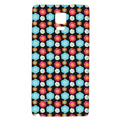 Colorful Floral Pattern Galaxy Note 4 Back Case