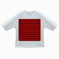 Charcoal And Red Peony Flower Pattern Infant/Toddler T-Shirts
