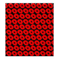 Charcoal And Red Peony Flower Pattern Shower Curtain 66  X 72  (large)