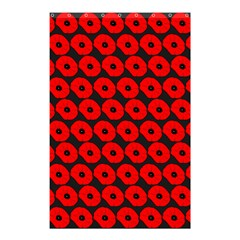 Charcoal And Red Peony Flower Pattern Shower Curtain 48  x 72  (Small)