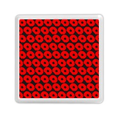 Charcoal And Red Peony Flower Pattern Memory Card Reader (Square)