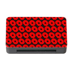 Charcoal And Red Peony Flower Pattern Memory Card Reader With Cf