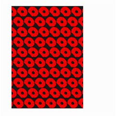 Charcoal And Red Peony Flower Pattern Large Garden Flag (Two Sides)