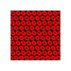 Charcoal And Red Peony Flower Pattern Acrylic Tangram Puzzle (4  X 4 )