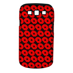 Charcoal And Red Peony Flower Pattern Samsung Galaxy S Iii Classic Hardshell Case (pc+silicone)