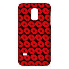 Charcoal And Red Peony Flower Pattern Galaxy S5 Mini