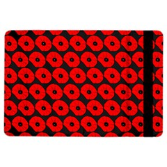 Charcoal And Red Peony Flower Pattern iPad Air 2 Flip