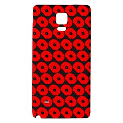 Charcoal And Red Peony Flower Pattern Galaxy Note 4 Back Case