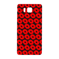 Charcoal And Red Peony Flower Pattern Samsung Galaxy Alpha Hardshell Back Case