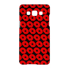 Charcoal And Red Peony Flower Pattern Samsung Galaxy A5 Hardshell Case