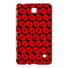 Charcoal And Red Peony Flower Pattern Samsung Galaxy Tab 4 (7 ) Hardshell Case