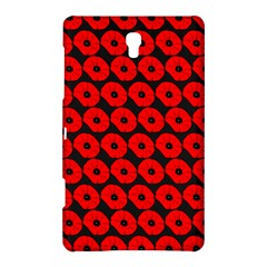 Charcoal And Red Peony Flower Pattern Samsung Galaxy Tab S (8.4 ) Hardshell Case
