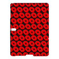 Charcoal And Red Peony Flower Pattern Samsung Galaxy Tab S (10.5 ) Hardshell Case