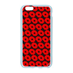 Charcoal And Red Peony Flower Pattern Apple Seamless iPhone 6 Case (Color)