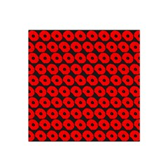 Charcoal And Red Peony Flower Pattern Satin Bandana Scarf