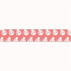 Coral And White Lady Bug Pattern Small Bar Mats