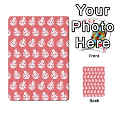 Coral And White Lady Bug Pattern Multi-purpose Cards (Rectangle)