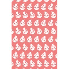 Coral And White Lady Bug Pattern 5.5  x 8.5  Notebooks