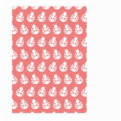 Coral And White Lady Bug Pattern Large Garden Flag (Two Sides)