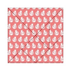Coral And White Lady Bug Pattern Acrylic Tangram Puzzle (6  X 6 )