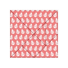 Coral And White Lady Bug Pattern Acrylic Tangram Puzzle (4  x 4 )