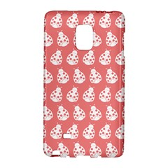 Coral And White Lady Bug Pattern Galaxy Note Edge