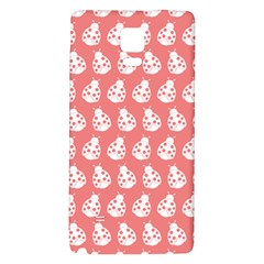 Coral And White Lady Bug Pattern Galaxy Note 4 Back Case